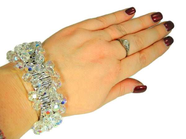 1950s Crystal Expansion Bracelet Hollywood Glamour - Premier Estate Gallery  - 3