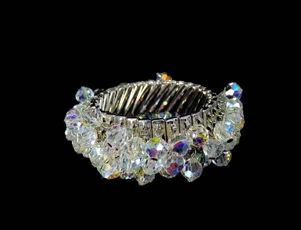 1950s Crystal Expansion Bracelet Hollywood Glamour - Premier Estate Gallery  - 5