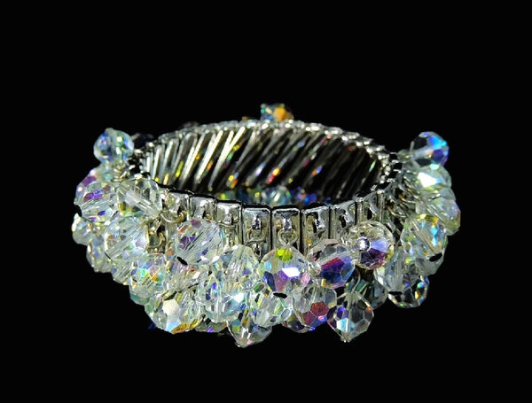 1950s Crystal Expansion Bracelet Hollywood Glamour - Premier Estate Gallery  - 2