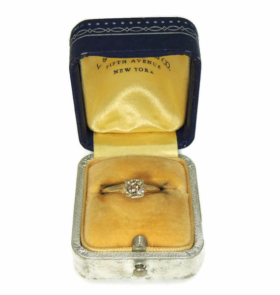 1930s 14k Champagne Diamond Engagement Ring Deco Style - Premier Estate Gallery  - 5
