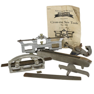 1940s Simonds Cross-Cut Saw Tool Set No. 342 with Extra Saw Tools - Premier Estate Gallery