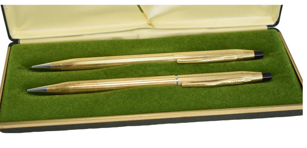 Vintage Cross Century Mechanical Pencil Set in 10k Gold Fill HHH Monogram on 1- Premier Estate Gallery 1