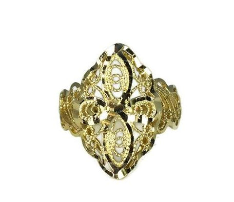 Vintage 14k Filigree Cross Ring, Religious Gold Cross Ring - Premier Estate Gallery