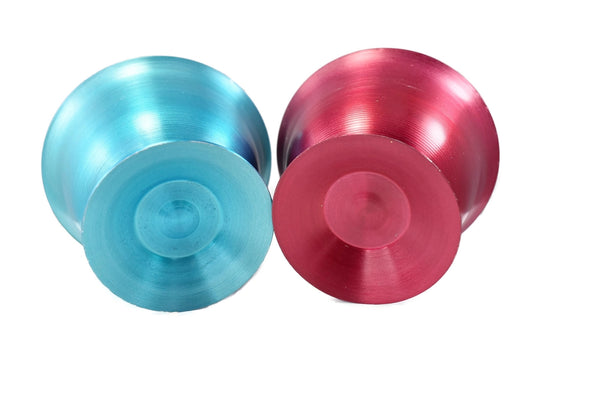 1950s Anodized Aluminum Ice Cream Sundae Dessert Bowls X4 Rainbow Colors