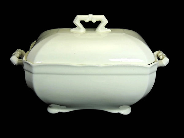 Ironstone Tureen with Ladle John Maddock and Sons Antique Stark White - Premier Estate Gallery  - 2