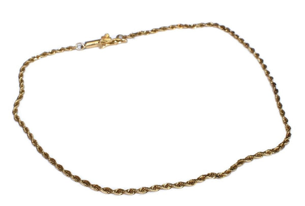 14k  Dainty Ankle Bracelet or Men's Gold Bracelet 10 inch - Premier Estate Gallery 2