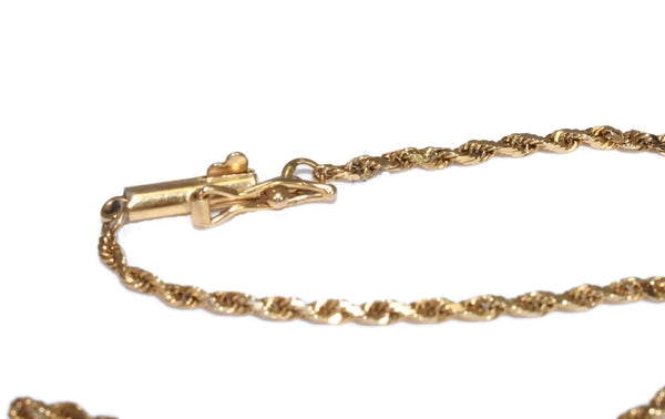 14k  Dainty Ankle Bracelet or Men's Gold Bracelet 10 inch - Premier Estate Gallery 3