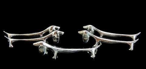 Vintage Dachshund Knife Rests Silver Plate France - Premier Estate Gallery