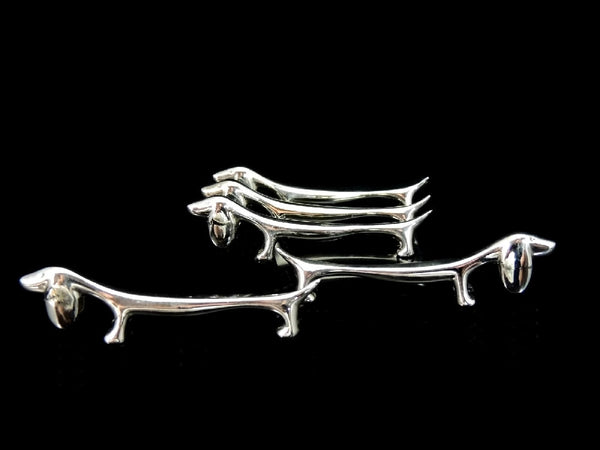 Silver Plate Dachshund Dog Knife Rests Spoon Rests - Premier Estate Gallery