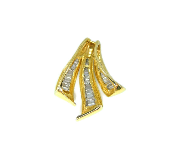 Diamond Enhancer Pendant 14k Yellow Gold 1 ctw Contemporary Vintage - Premier Estate Gallery  - 6