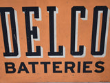 Metal Delco Batteries Sign Vintage Industrial Decor Man Cave Wall Display - Premier Estate Gallery 1