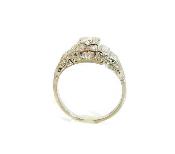 Art Deco 19k White Gold Diamond Ring Wedding Set - Premier Estate Gallery  - 5