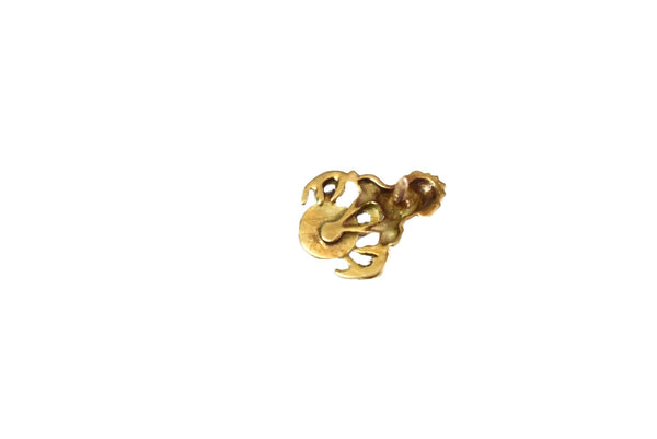 14k Gold Elks BPOE Lapel Pin Diamonds Enamel Vintage 1.2g
