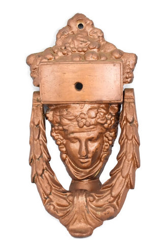 Neoclassical Style Iron Door Knocker Goddess Athena c1920s Art Deco - Premier Estate Gallery