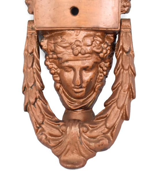 Neoclassical Style Iron Door Knocker Goddess Athena c1920s Art Deco - Premier Estate Gallery2