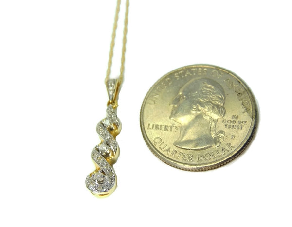 10k Gold Diamond Pendant and Chain Diamond Necklace - Premier Estate Gallery  - 6