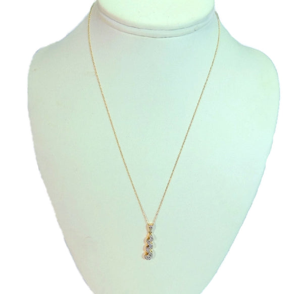 10k Gold Diamond Pendant and Chain Diamond Necklace - Premier Estate Gallery  - 7