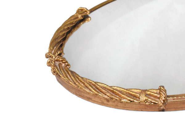 Vintage Hollywood Regency Vanity Tray Heavy Gold Rope Trim - Premier Estate Gallery 5