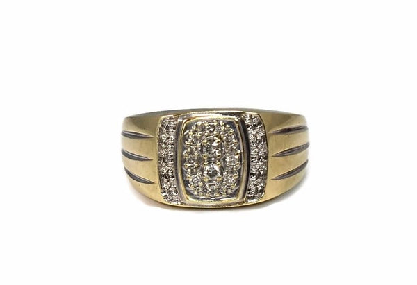 10k Men's Diamond Ring Vintage Cocktail Style - Premier Estate Gallery 2
