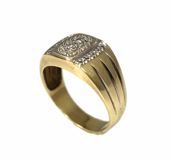 10k Men's Diamond Ring Vintage Cocktail Style - Premier Estate Gallery 3