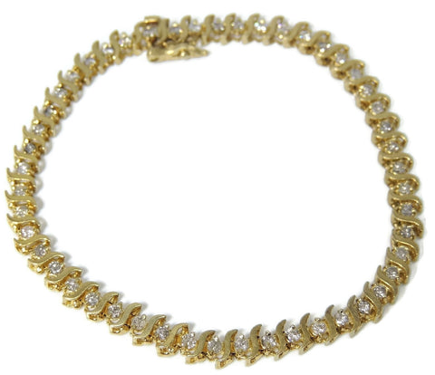 14k Diamond Tennis Bracelet 4 ctw Contemporary Vintage Estate Jewelry - Premier Estate Gallery  - 1