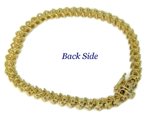 14k Diamond Tennis Bracelet 4 ctw Contemporary Vintage Estate Jewelry - Premier Estate Gallery  - 5