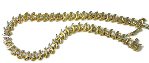 14k Diamond Tennis Bracelet 4 ctw Contemporary Vintage Estate Jewelry - Premier Estate Gallery  - 2