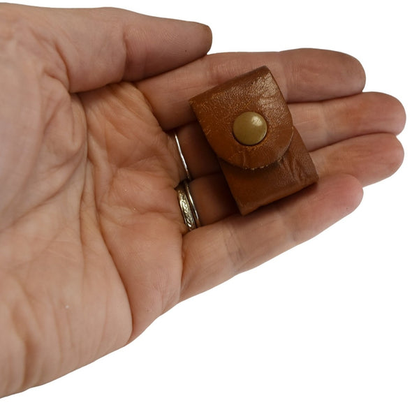 1950s Original Dux Brass Pencil Sharpener w Leather Case 3 Sharpening Styles, Artist Pencil Sharpener Vintage