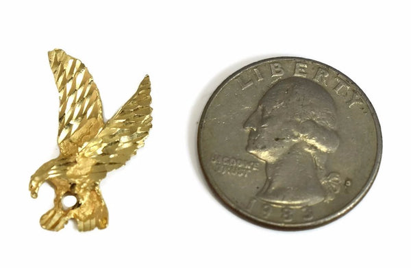 Vintage 14k Eagle Charm or Pendant Great Gift of Gold for Him - Premier Estate Gallery 2