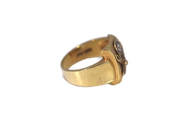 1950s Order of Elks 10k Enamel Ring Vintage BPEO Gold Ring