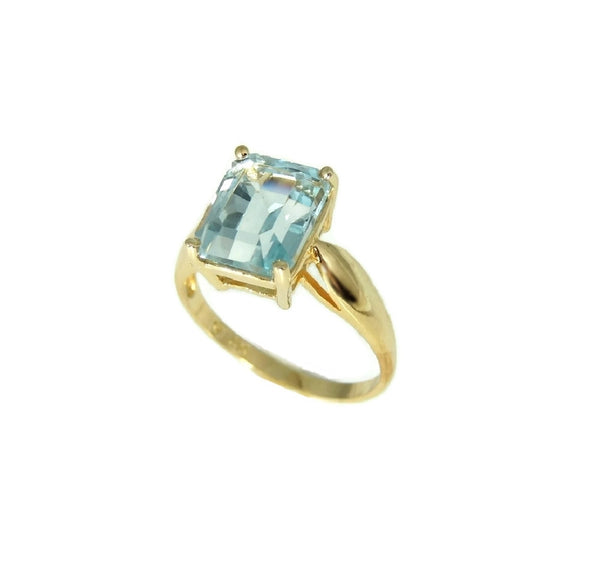 Blue Topaz 14k Gold Ring Vintage Gemstone Jewelry - Premier Estate Gallery  - 2