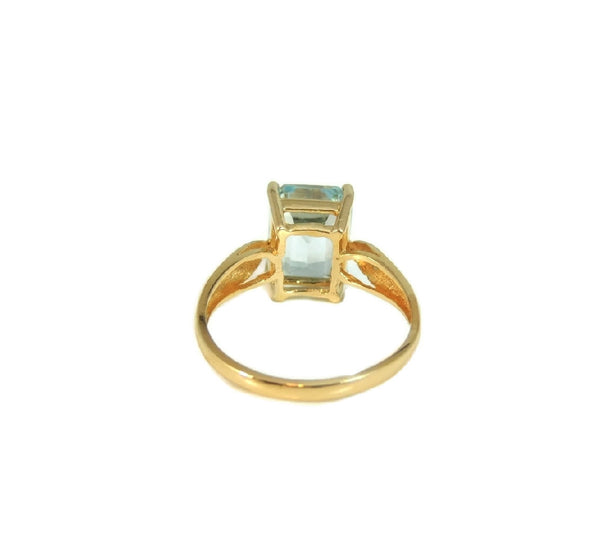 Blue Topaz 14k Gold Ring Vintage Gemstone Jewelry - Premier Estate Gallery  - 4