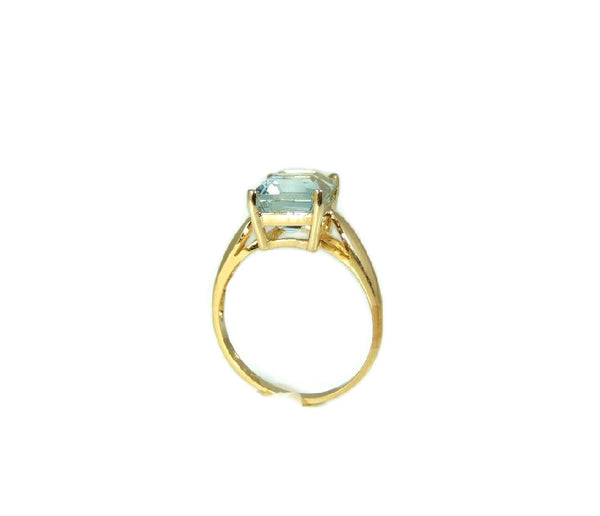 Blue Topaz 14k Gold Ring Vintage Gemstone Jewelry - Premier Estate Gallery  - 5