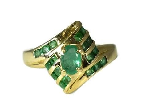 Estate 14k Gold Emerald Ring - Premier Estate Gallery