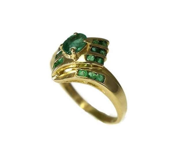Estate 14k Gold Emerald Ring - Premier Estate Gallery 2