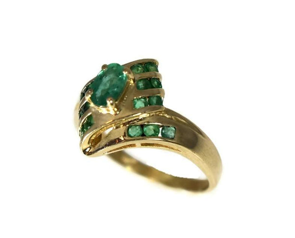 Estate 14k Gold Emerald Ring - Premier Estate Gallery 4