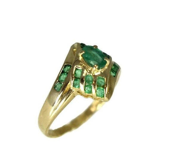 Estate 14k Gold Emerald Ring - Premier Estate Gallery 5
