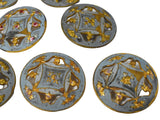 19th Century Enamel Gilt Buttons in 10k Gold Set of Eleven Roses - Premier Estate Gallery 2
