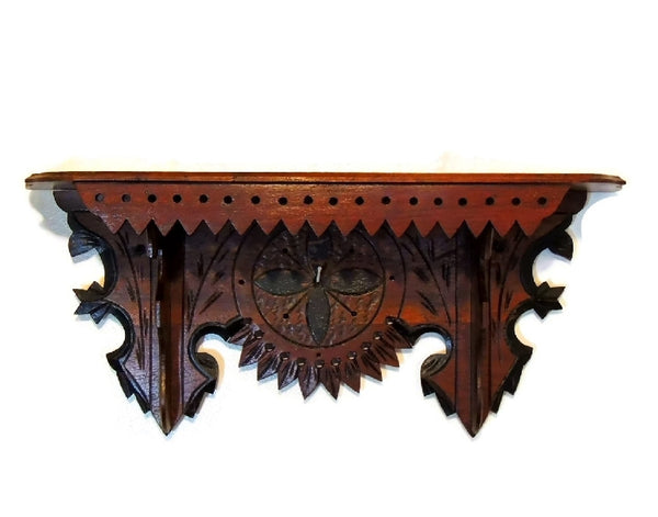 Victorian Clock Shelf Eastlake Period Antique Ornate - Premier Estate Gallery  - 1