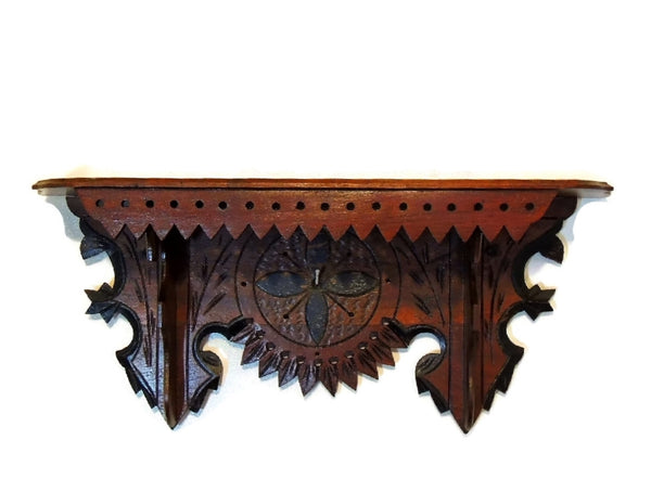 Victorian Clock Shelf Eastlake Period Antique Ornate - Premier Estate Gallery  - 7
