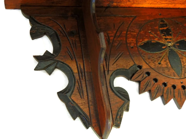 Victorian Clock Shelf Eastlake Period Antique Ornate - Premier Estate Gallery  - 5