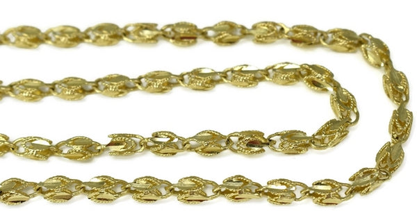 Estate 14k Gold Fancy Link Chain 24 inch - Premier Estate Gallery 3