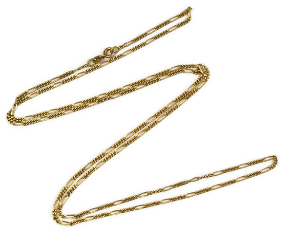 Vintage 14k Gold Figaro Chain 30 Inch Length Men's Chain - Premier Estate Gallery 3