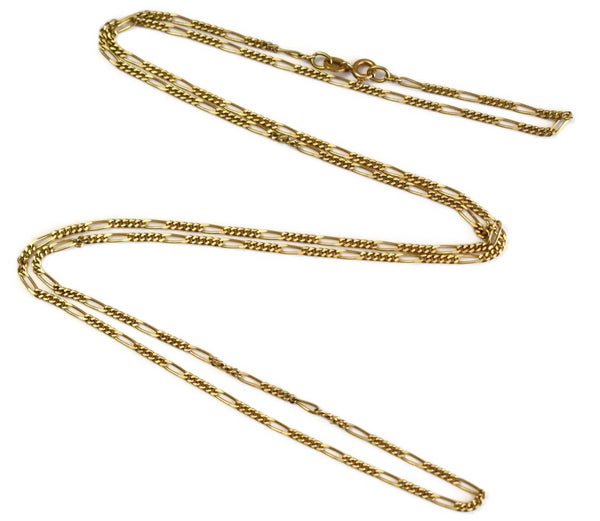 Vintage 14k Gold Figaro Chain 30 Inch Length Men's Chain - Premier Estate Gallery 2