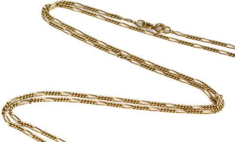 Vintage 14k Gold Figaro Chain 30 Inch Length Men's Chain - Premier Estate Gallery