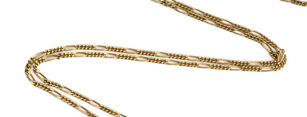 Vintage 14k Gold Figaro Chain 30 Inch Length Men's Chain - Premier Estate Gallery 4