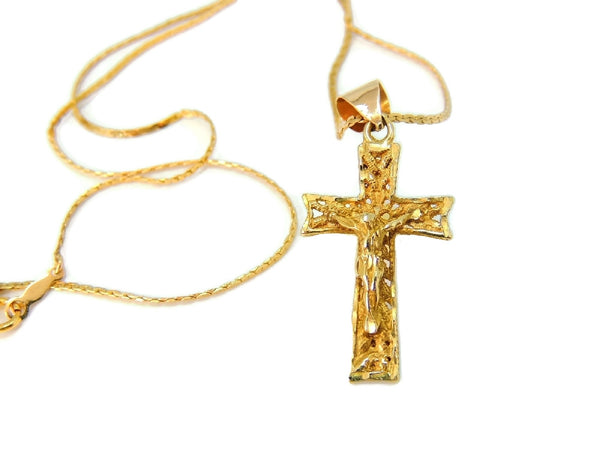 Filigree 14k Cross Necklace Vintage Gold - Premier Estate Gallery  - 1