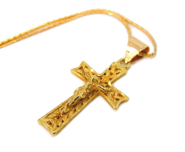 Filigree 14k Cross Necklace Vintage Gold - Premier Estate Gallery  - 2