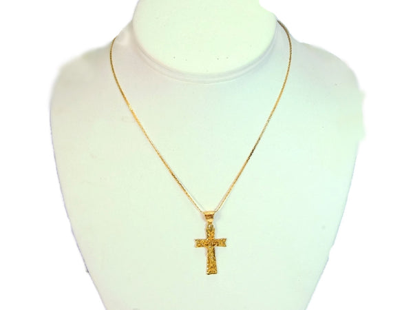 Filigree 14k Cross Necklace Vintage Gold - Premier Estate Gallery  - 6