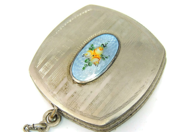 Art Deco Enamel Compact FMCO Finberg White Gold Filled - Premier Estate Gallery  - 2